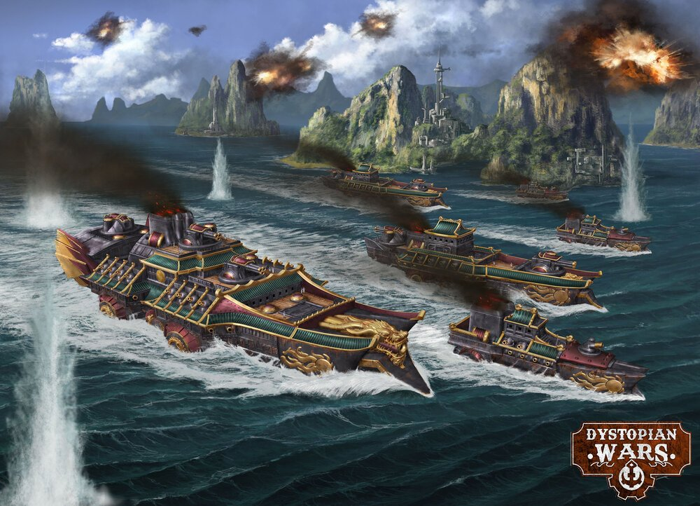 Battlefleet Ning Jing sweeps forward to engage the enemies of the Empire.