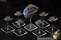 "The Relthoza MKI ""chitinous"" Hive Class Carrier and Stinger Class Escorts"