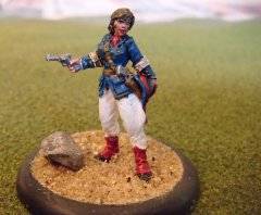 "Conversion of a Reaper ""Victorian Adventuress"" to French Officer"