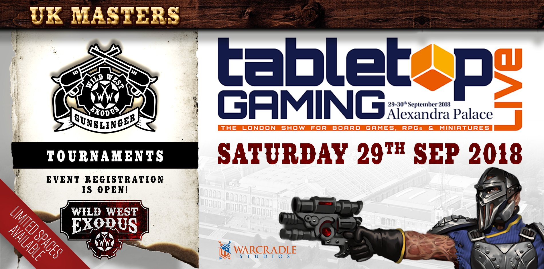UK Gunslinger Masters at Tabletop Gaming Live!