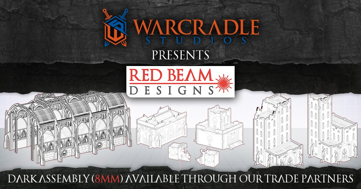 New Wargame Terrain with Dark Assembly 8mm